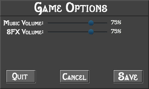 Game Options Panel