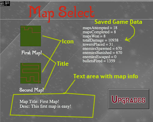 Map Select Screen