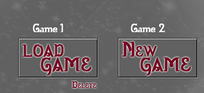 new and load game buttons